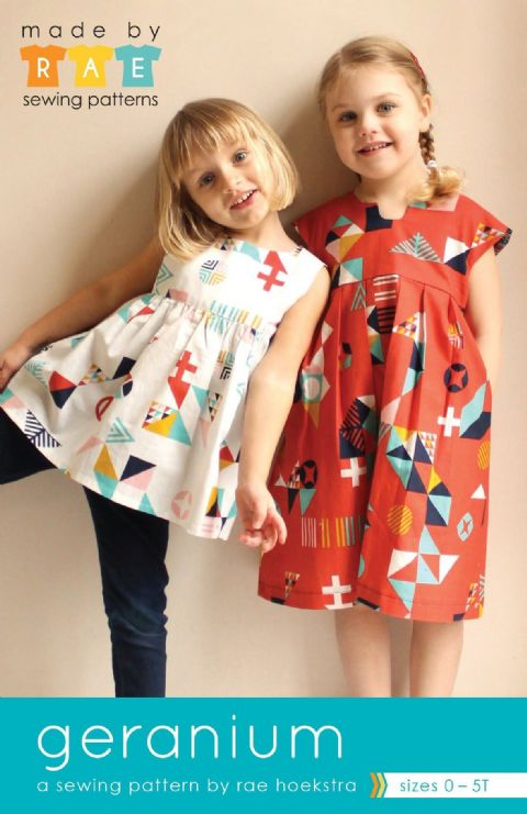 Made by RAE - Geranium Dress Pattern - kids' sizes 0-5